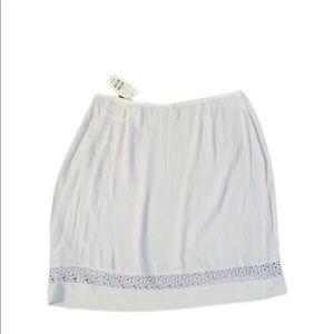 Express Cream mini skirt sz 9/10